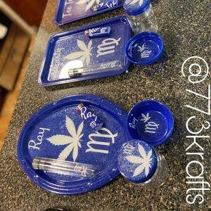 Zodiac Rolling Tray Set